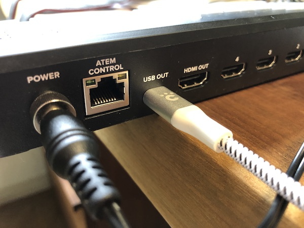 ATEM Mini Pro(背面USB-C接続)